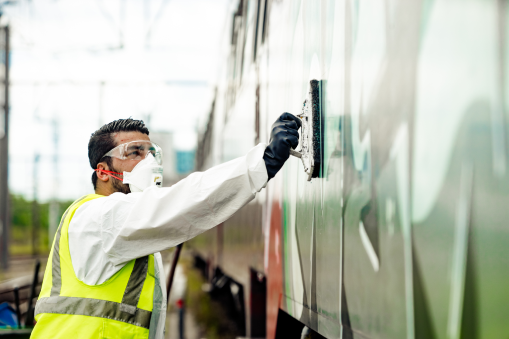 Mobility Masters is a specialist in graffiti removal.