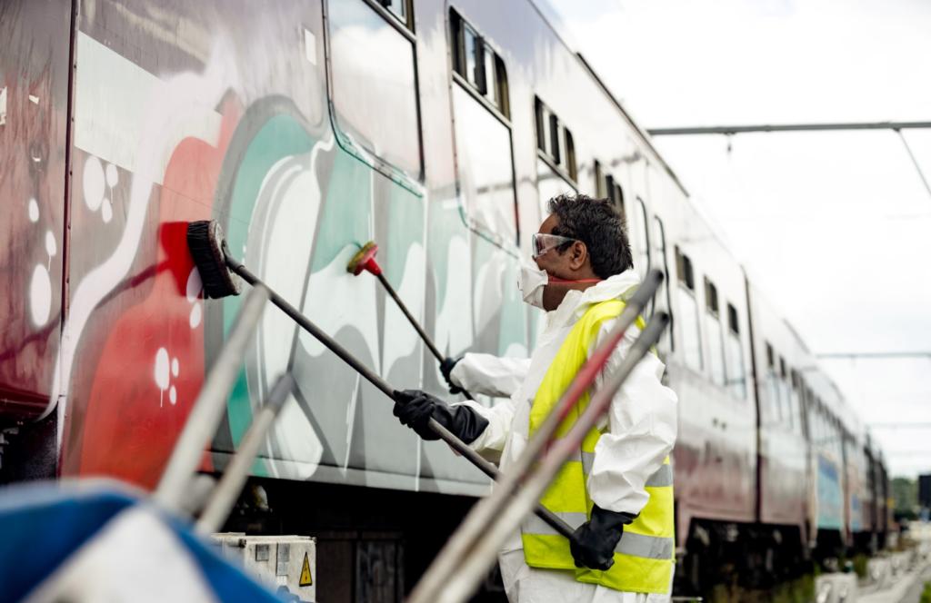 Mobility Masters graffiti