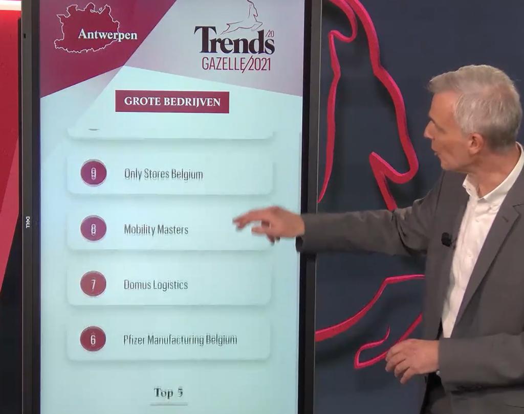 Trends Gazellen 2021 - 8e plaats voor Mobility Masters