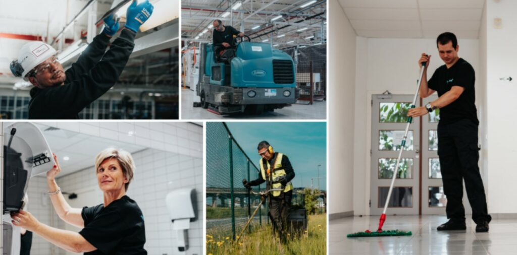 The advantages and disadvantages of outsourcing facility services.