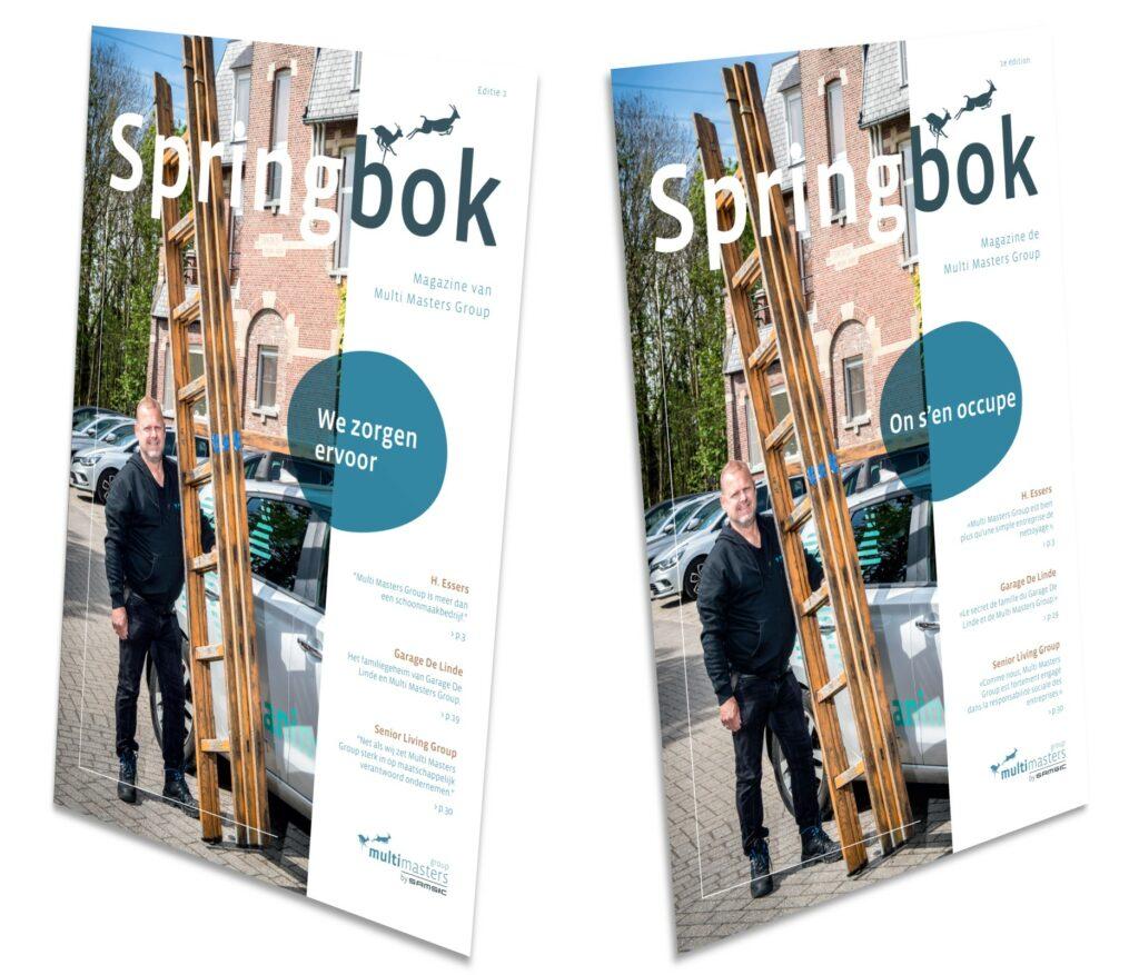 'Springbok' is het gloednieuwe magazine van Multi Masters Group.