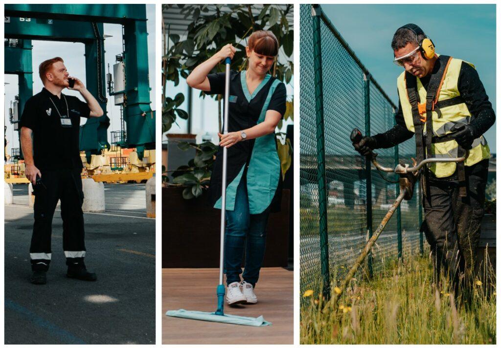 Les services facilitaires que les entreprises vont externaliser le plus souvent sont le nettoyage, je jardinnage et le gardiennage.